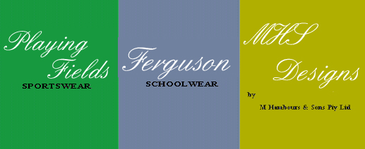Playing Fields Sportswear, Ferguson Schoolwear, and MHS Designs